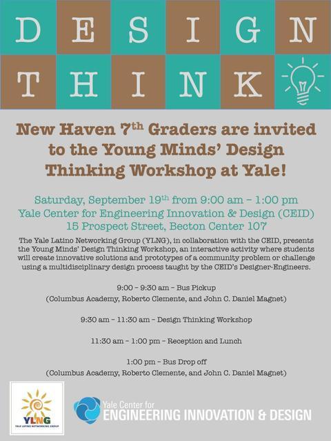 Design Think 2015 Stem Workshop Yale Latino Networking Group